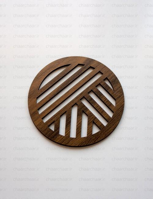 زیر لیوانی چوبی کد1