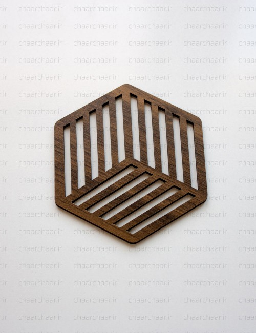 زیر لیوانی چوبی کد2
