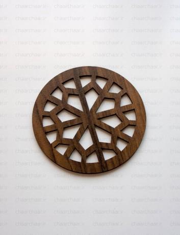 زیر لیوانی چوبی کد4