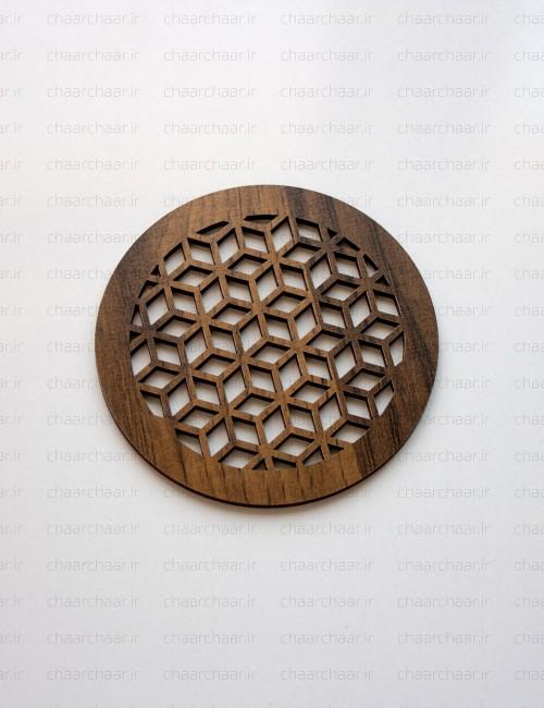 زیر لیوانی چوبی کد3