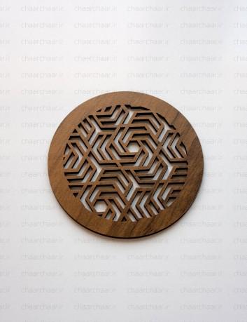 زیر لیوانی چوبی کد6